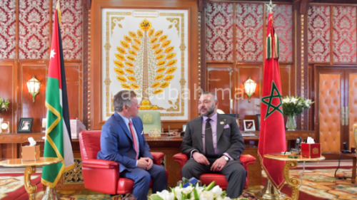 عاهل الأردن يعرب عن تقديره للملك على مواقفه المشرفة لنصرة القدس