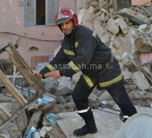 انهيار خمسة منازل بالبيضاء