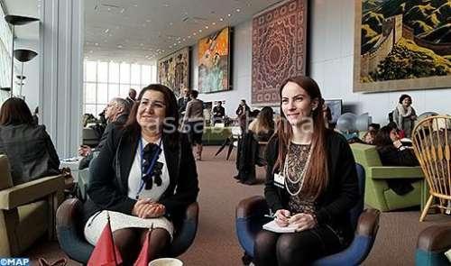 نائبة رئيس مجلس النواب في مباحثات مع رئيسة البرلمان الدولي بنيويورك