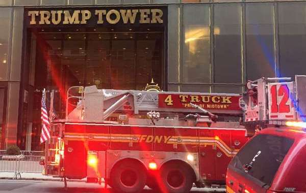 قتيل و6 مصابين في حريق ببرج ترامب