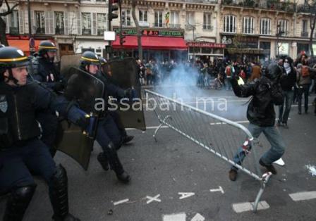 تواصل أعمال العنف لليوم الثالث على التوالي بغرب فرنسا