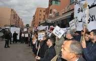 مكترو أحباس مراكش يحتجون