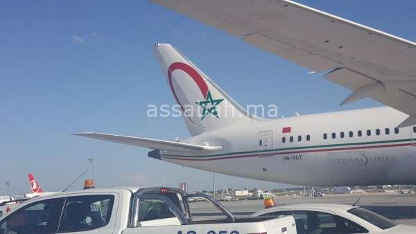 بالفيديو والصور ... اصطدام طائرتين تركية ومغربية باسطنبول