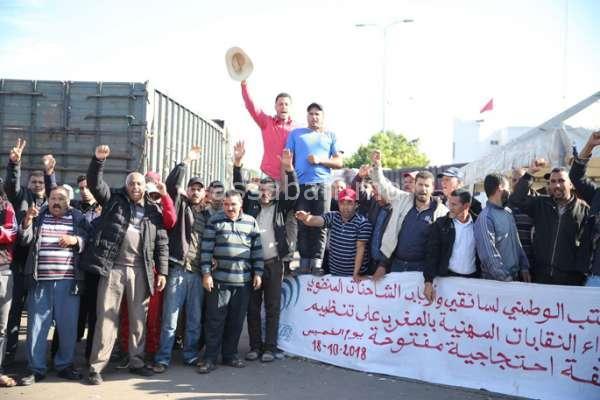 إضراب جديد لأرباب الشاحنات