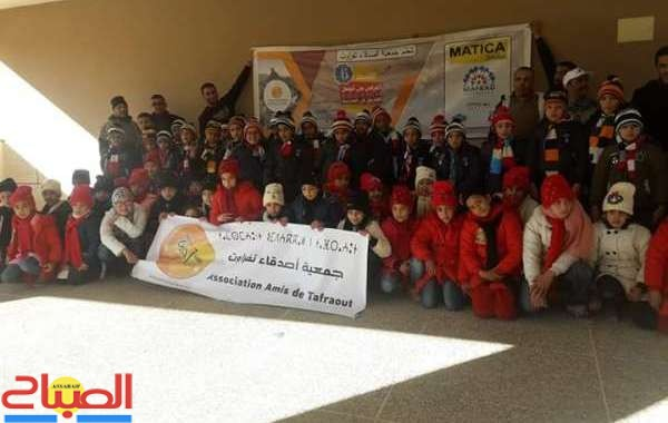 بالصور ... حملة إنسانية لتوزيع ملابس مقاومة للبرد بتفراوت