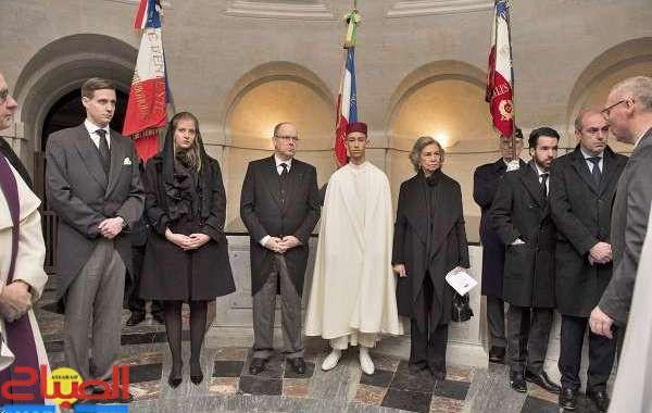 مولاي الحسن يمثل الملك في مراسم تشييع جثمان كونت باريس