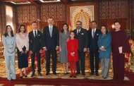 ملك إسبانيا يستقبل رئيس مجلس النواب