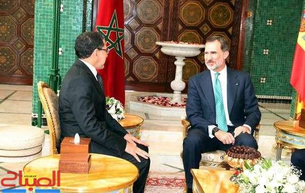 ملك إسبانيا يستقبل العثماني