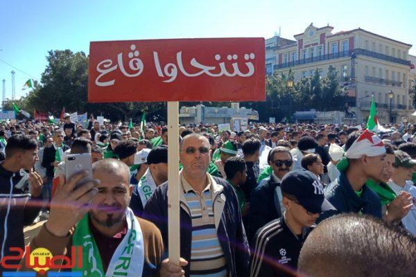 آلاف الطلاب في شوارع الجزائر العاصمة في أول تظاهرة منذ بدء رمضان