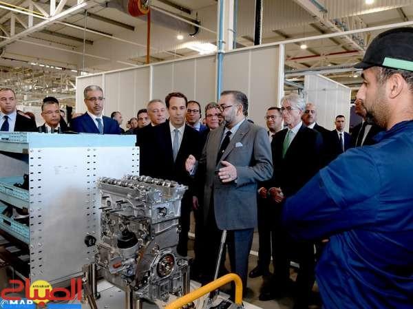 الملك يدشن المنظومة الصناعية للمجموعة الفرنسية