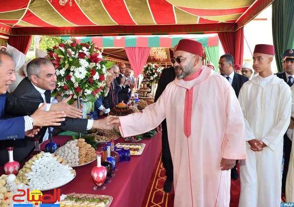 التهاني تتقاطر على الملك بمناسبة عيد الشباب وثورة الملك والشعب