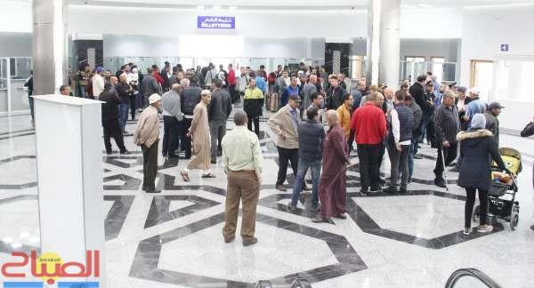 احتجاجات في افتتاح محطة طنجة