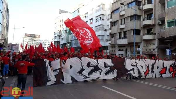 بالصور ... مسيرة ودادية في شوارع البيضاء تخليدا لذكرى المسيرة الخضراء